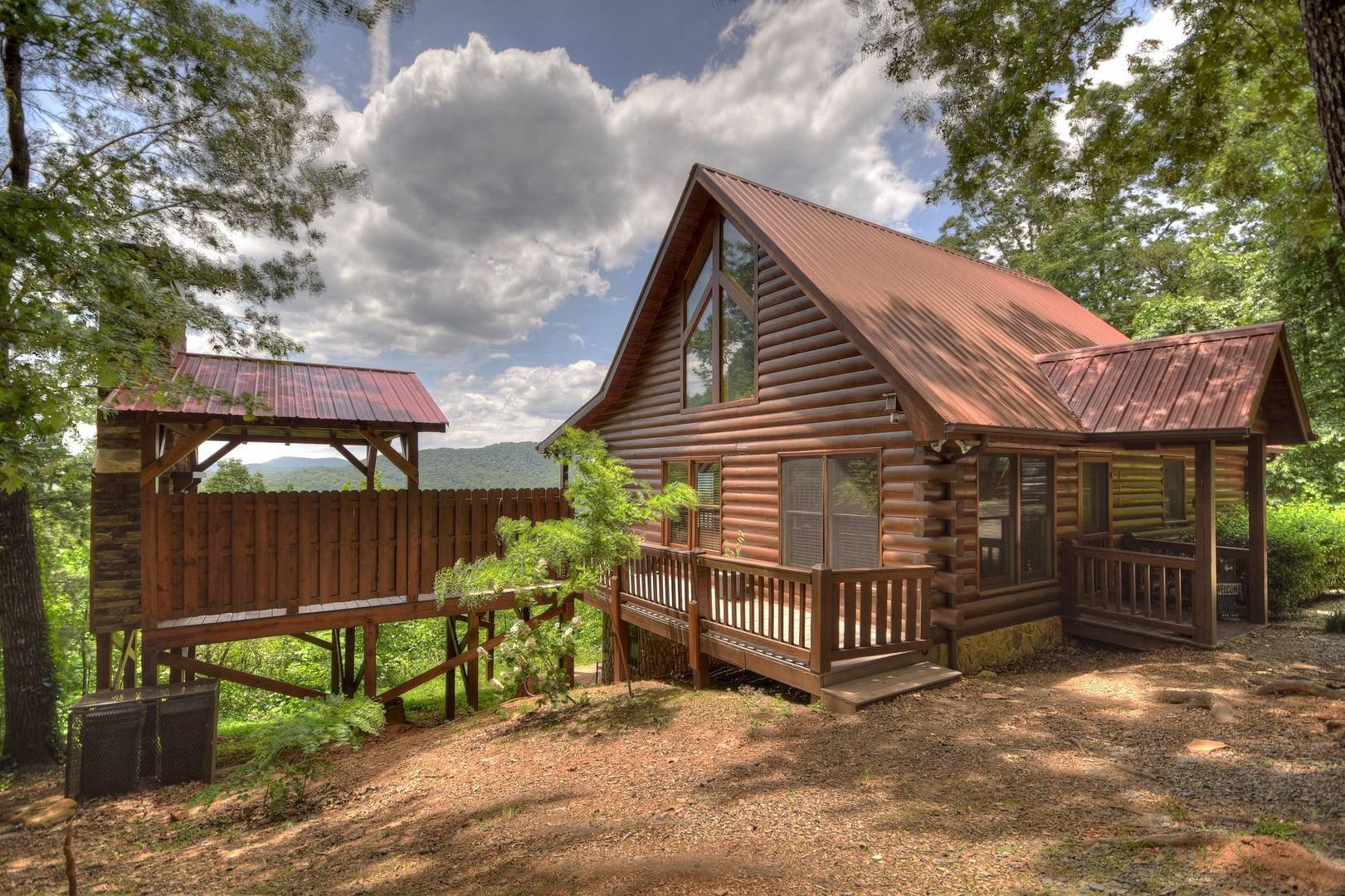 Georgia Cabins A Sunset Ridge Morning Breeze Cabin Rentals