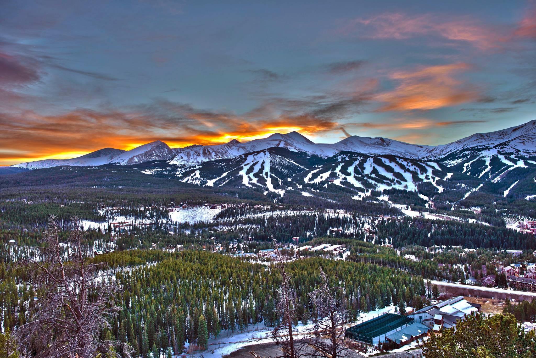 Breckenridge Ski Resort during sunset