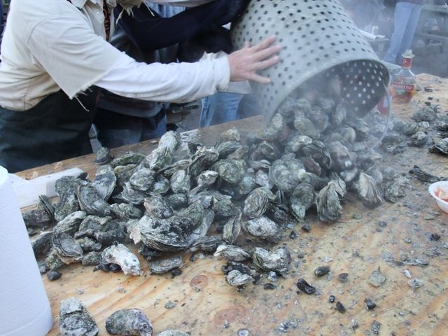 Oyster Roast in Ocracoke by Russell Poole